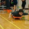 Austin Richardson experiementing new games in his Individual/Dual/Lifetime Sport course.