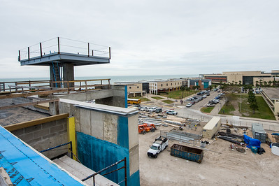 A view of the campus from the Tidal Hall building.