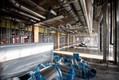 Interior photograph of one of the many labs in the Tidal Hall construction site.