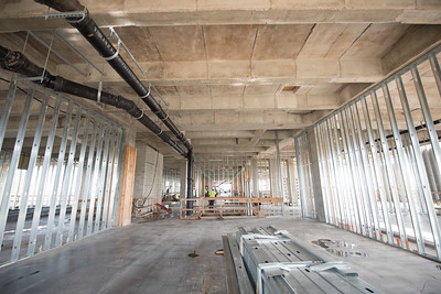Construction on the labs in Tidal Hall continue.