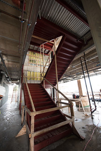Stairwell frames in place in the Tidal Hall Construction site.