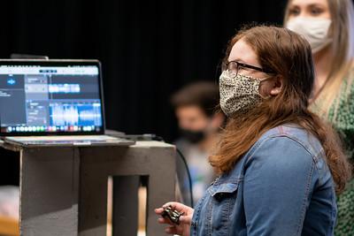Kat Williams reveals the origin of the sound during their sound design foley class.