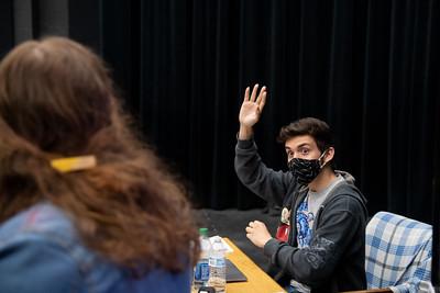 Theater teacher Brandon Besse at Mary Carroll High School.