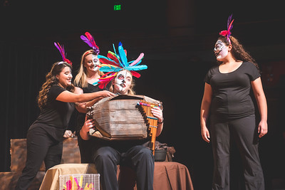 Students perform scenes during their final dress rehearsal of 'Dia de los Mozart'.   Remaining performances are scheduled for Friday, October 28, at 7:30 p.m. in the TAMU-CC Performing Arts Center. Tickets are available at the box office.