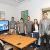 Darius Stephen, David Mora, Dr. Philippe Tissot(left) Carly Stanton, Laura Pulgarin and David Fonseca. Part of the research team behind the Weather on Wheels APP.