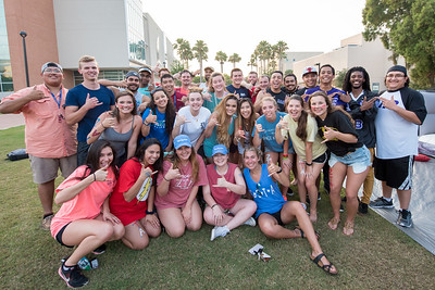 TAMUCC students gather for the commencement of Greek Week.