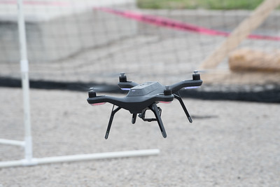 A 3DR Solo drone makes it's way through an obstacle course during the Lone Star UAS Drone Expo. Saturday March 04, 2017.