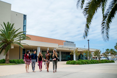 Students make their way to classes from the University Center.