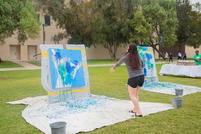 Brittany Perez relieves stress on East Lawn.