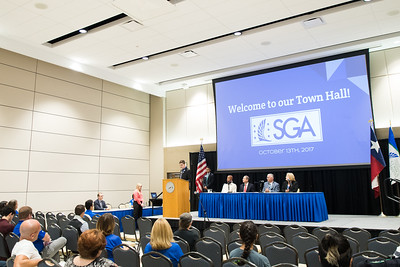 The Student Government Association held a Town Hall Meeting in the University Center's Anchor Ballroom.