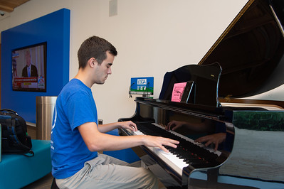 "Louis Chavez plays the ""Crazy"" piece he wrote at the University Center."