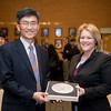 Mr. Heonsoo Kim, Principal of Sejong Academy (left) and Dr. Kelly M. Quintanilla, president and CEO of Texas A&M University-Corpus Christi.