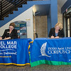 Del Mar College Executive Vice President and Chief Academic Officer Beth Lewis (left), and TAMU-CC President Kelly Quintanilla sign the biotechnology articulation agreement.