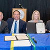 "President and CEO of Texas A&M-Kingsville Dr. Steve Tallant (left), Commissioner Henry ""Hank"" Whitman, Jr., Texas A&M University System Chancellor John Sharp, and President and CEO of Texas A&M University - Corpus Christi, Dr. Kelly Quintanilla after signing the Certificate of Collaboration for the Supervised Independent Living Program."