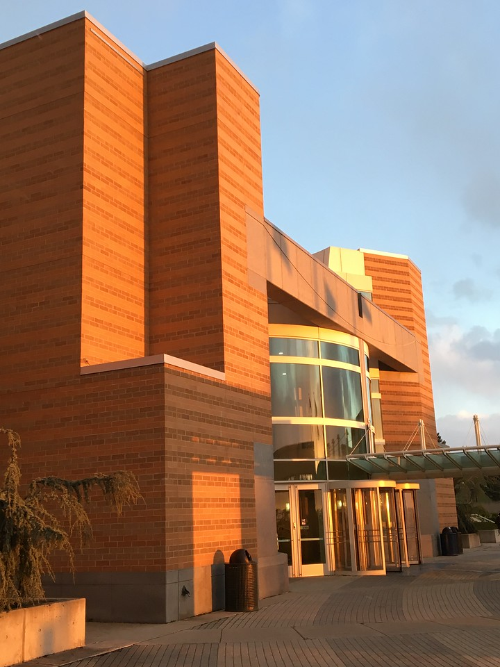 Browning Center at sunset
