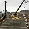 Crane at Top of Stairs
