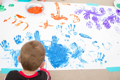 Year of the child finger painting