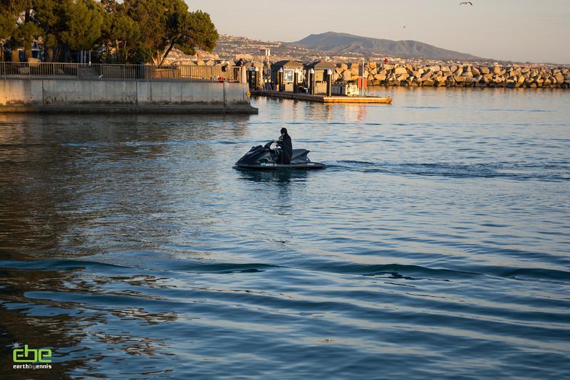Batman on a SeeDoo at Dana Point Harbor, Dana Point, CA 2.14.15