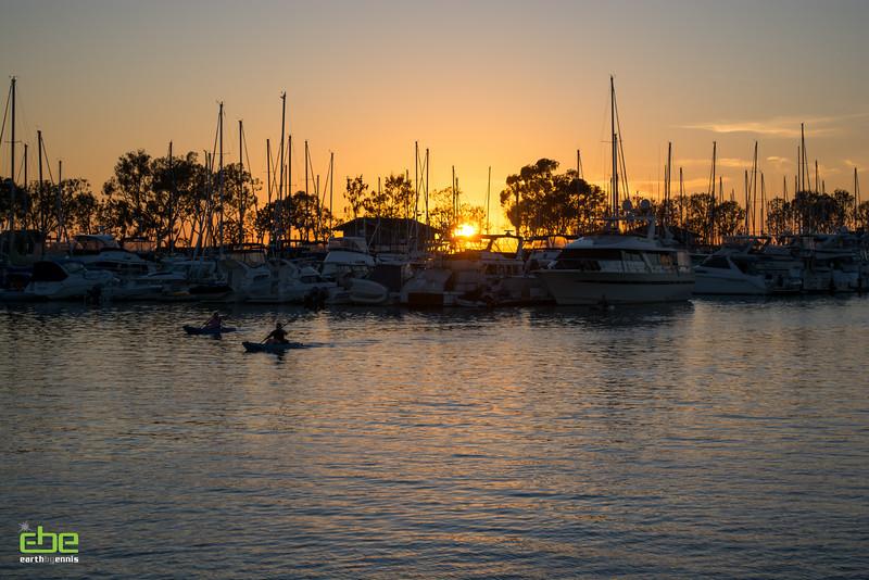 Kayaking at Dana Point Harbor, Dana Point, CA 2.14.15