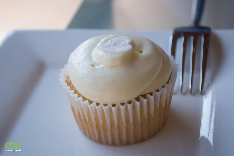 Complimentary Lemon Chiffon cupcake at What a Dish, Dana Point, CA 2.14.15