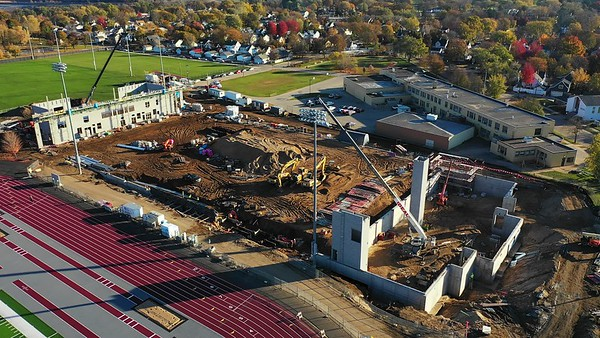 2020 Fall UWL Field House Construction Bluffs 2