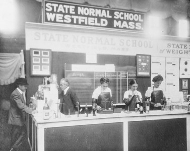 Louis B. Allyn and students at the Domestic Science Exposition Madison Square Garden, New York City 1910
