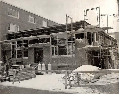 Construction of addition on Scanlon Hall 1967.