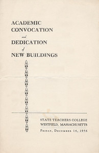 Program for the Dedication of the New Western Avenue Campus  December 14,1956