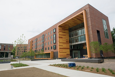 University Hall, on the campus of Westfield State University, near the end of construction, August 2013