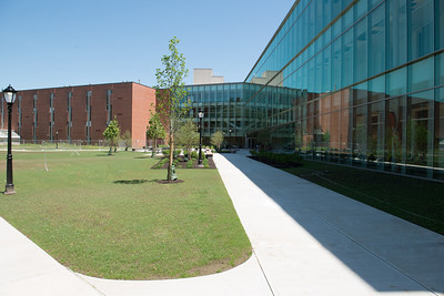 The STEM building, nearing completion, at Westfield State University, May 2016.