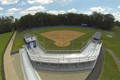 Westfield State University Baseball and Softball fields, Summer 2017