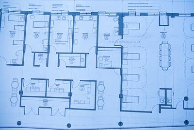 STEM Center blueprint photos for Focus, Spring 2016