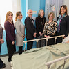 Representatives of United Bank, The Westfield State University Foundation, and the Westfield State University Nursing Department pose in one of the new SIM labs on the WSU campus to discuss United Bank's recent donation to the program