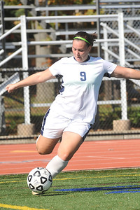Photo for women's soccer feature story:  Conference player of the year and All-New England selection Kayley Miller became Westfield State's all-time leading scorer during the Owls' brilliant 18-1-1 season.