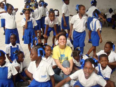 Britney Gengel, daughter of Cherylann Gengel, in Haiti during her mission trip in January 2010.