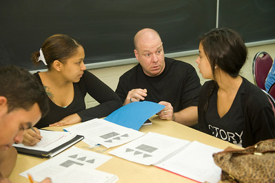 Westfield State University Mathematics professor Julian Fleron teaches complex mathematical concepts to non-math major students
