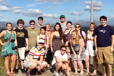 2012 class visiting the Old Grenada Fort. Names are on other email - do you need them?