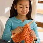 African girl knitting