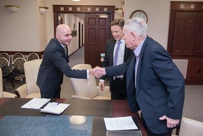 Swearing in of Westfield State University's new trustee, Edward Sullivan
