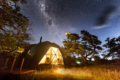 Starlit sky over EcoCamp Patagonia