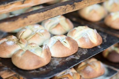 Mexico, Santa Rosalia. Panaderia El Boleo. Image of freshly made goods.