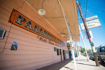 Mexico, Santa Rosalia. Panaderia El Boleo. Iamge of bakery storefront.