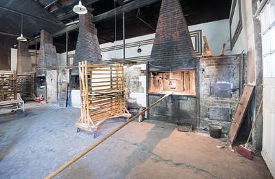 Mexico, Santa Rosalia. Panaderia El Boleo. Image of three big ovens.