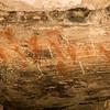 Mexico, Baja. Sierra deSan Francisco, Santa Teresa Canyon. Image of cave paintings.