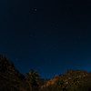 Mexico, Baja. Sierra deSan Francisco, Santa Teresa Canyon. Stars in the night sky.