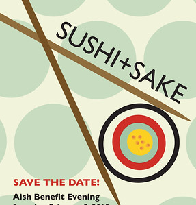 Sushi and Sake Save the Date 5.5x8.5