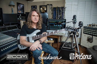 David Ellefson ZOOM Q2N product shoot