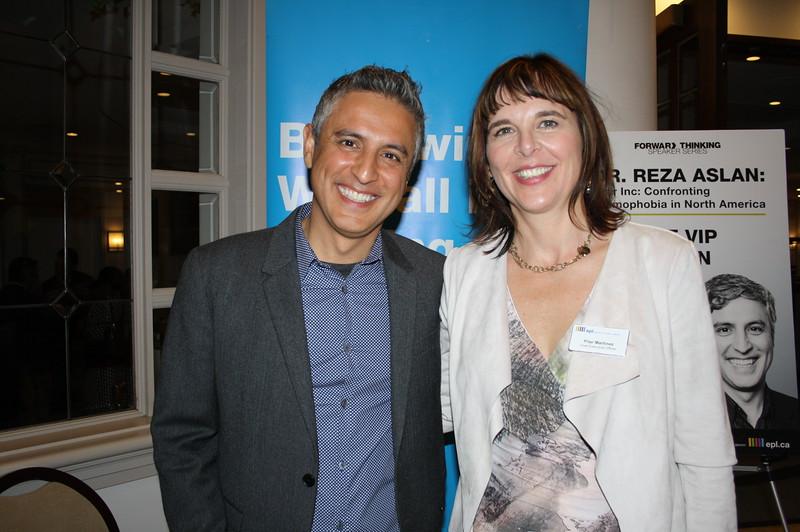 Reza Aslan & EPL CEO Pilar Martinez