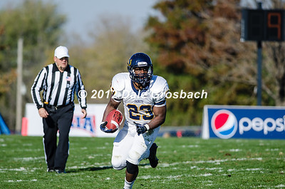 Image: 0461  October  27, 2012; Olathe, KS; Graceland (IA) Yellowjackets vs. Mid America Nazarene (KS) Pioneers.  Mandatory Credit: Dale Grosbach-Dale G Sports