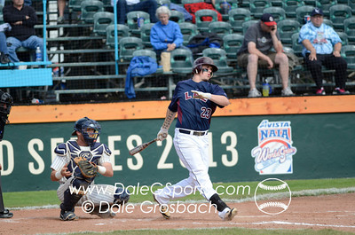 Image #0347   May 28, 2013; Harris Field Complex,Lewiston, ID; Lee (TN) Flames vs. Missouri Baptist Spartans.  Game 14, 57th Annual Avista NAIA Baseball World Series  Mandatory Credit: Dale Grosbach-Dale G Sports